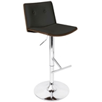 lustra adjustable stool in wenge and black