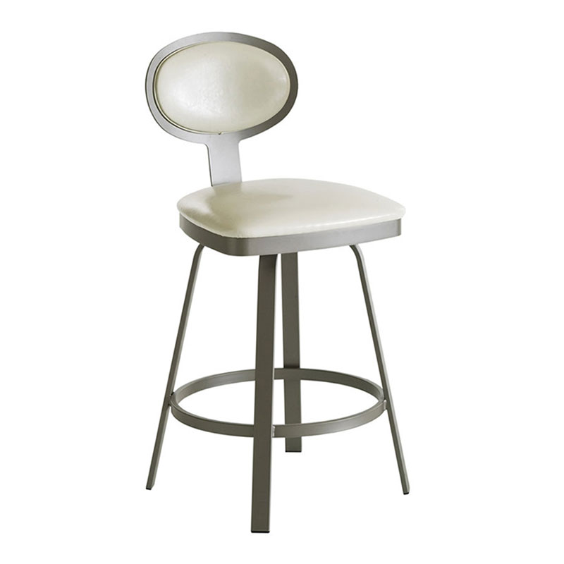Margate Counter Stool in Titanium and Eggshell