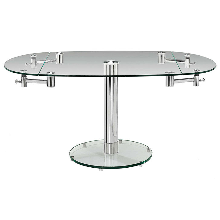 modern dining tables marina oval glass extension table