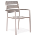 melun modern outdoor slated arm chair