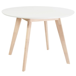 metz round modern dining table