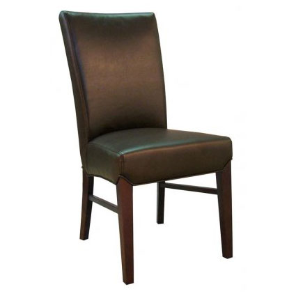 milt dining chair in coffee bean