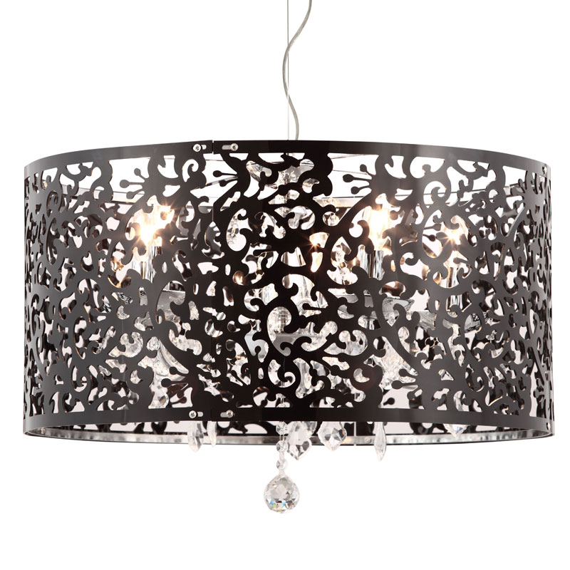 Black Lace Hanging Lamp