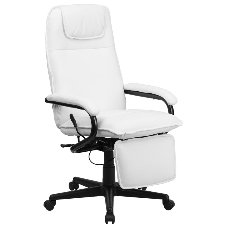 Nelson Reclining Executive Chair in White