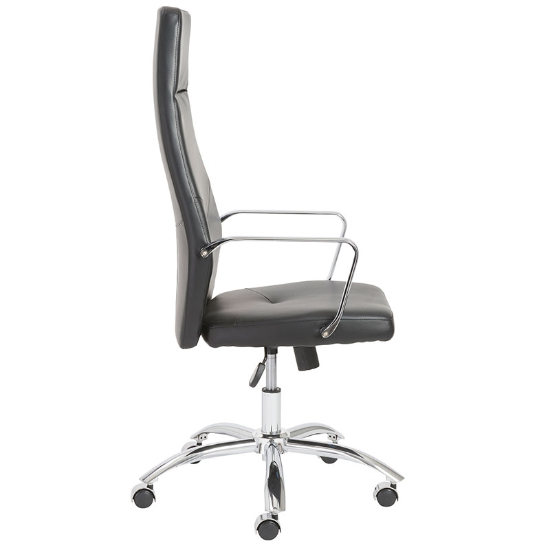 norwood high back modern office chair in black