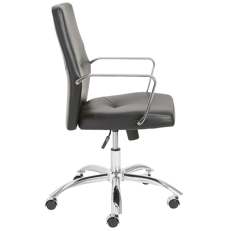 norwood low back modern office chair in black
