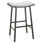 Novak Bar Stool - Oxidado / Eggshell