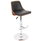 eva adjustable stool in walnut and black