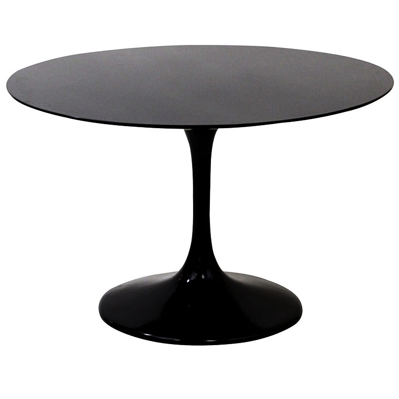 Odyssey Modern  Round Black Dining Table Eurway