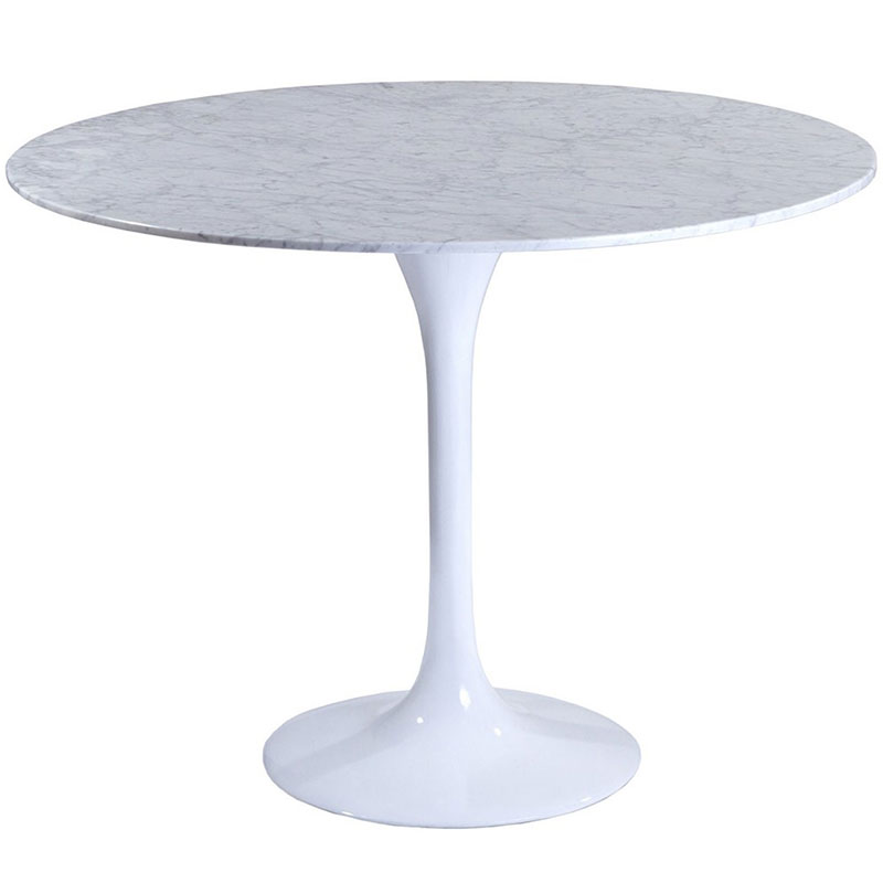 odyssey 40 inch modern round marble dining table