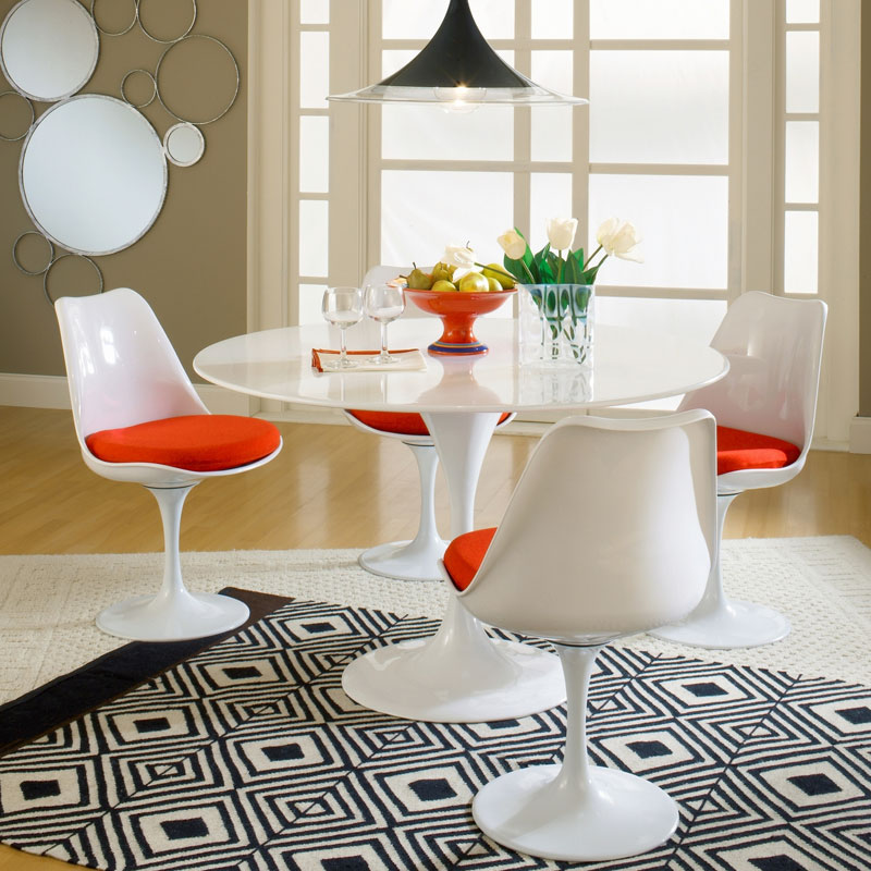 Odyssey White Side Chair - EEI-115-