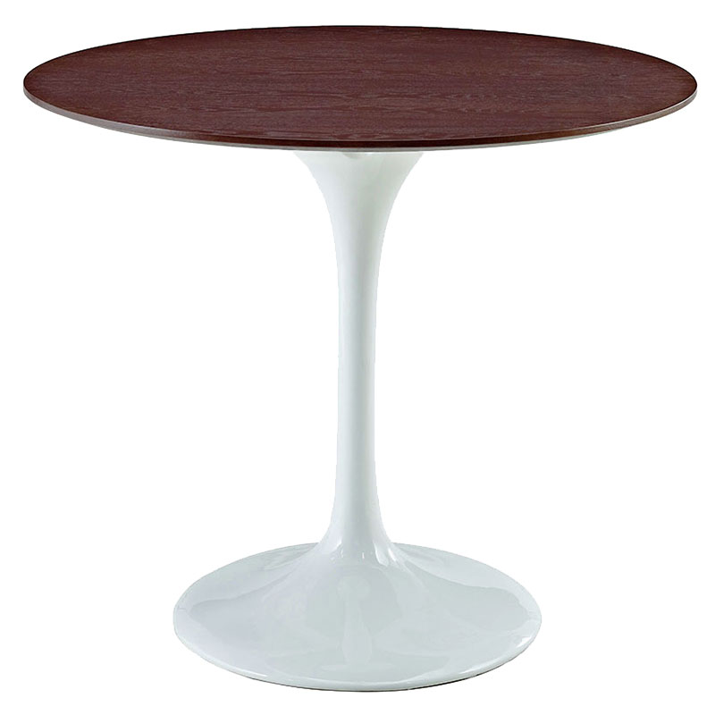 odyssey 36 inch modern round walnut dining table