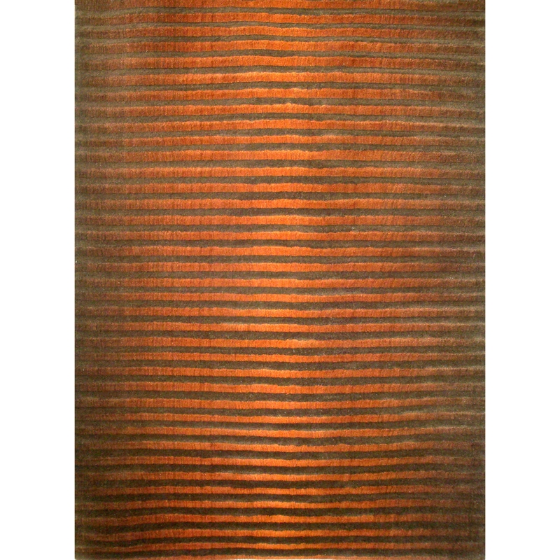 Orange Fade Contemporary Rug