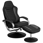 overdrive racing style recliner + ottoman