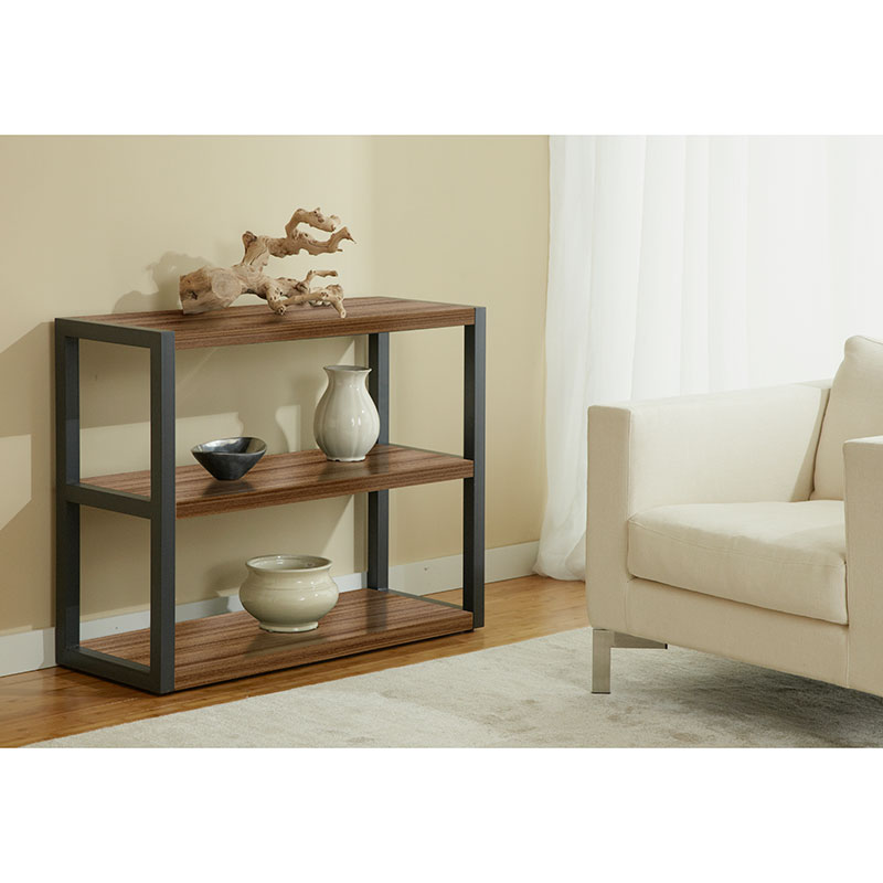 Paige Low Bookcase in Walnut
