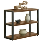 Paige Contemporary Low Bookcase in Walnut