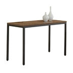 Paige Contemporary Console Table in Walnut