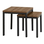 Paige Contemporary End Table Set in Walnut