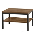 Paige Contemporary Rectangular End Table in Walnut