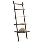 Paige Contemporary Narrow Leaning Bookcase
