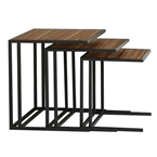 Paige Modern Nesting Tables in Walnut
