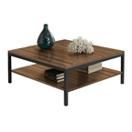 Paige Contemporary Cocktail Table in Walnut
