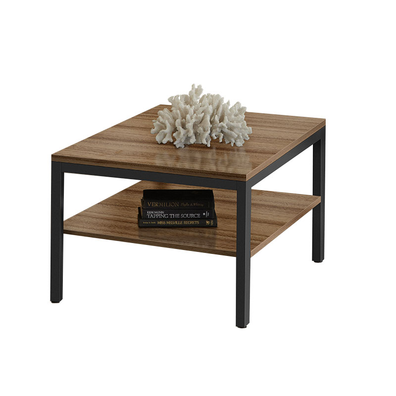 Paige Contemporary Square End Table in Walnut