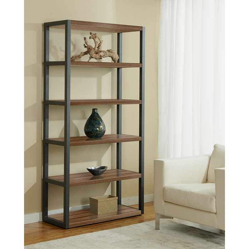Paige Bookcase in Walnut