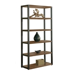 Paige Contemporary Bookcase in Walnut