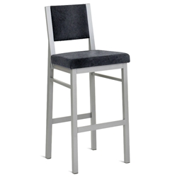 Porter Bar Stool - Platina Metal w/ Fleece Fabric