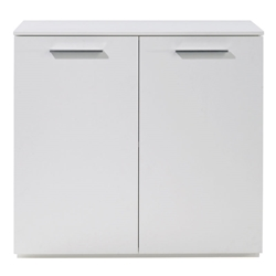 Perfecta White Low Storage Cabinet