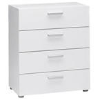 pescara 4 drawer chest in white