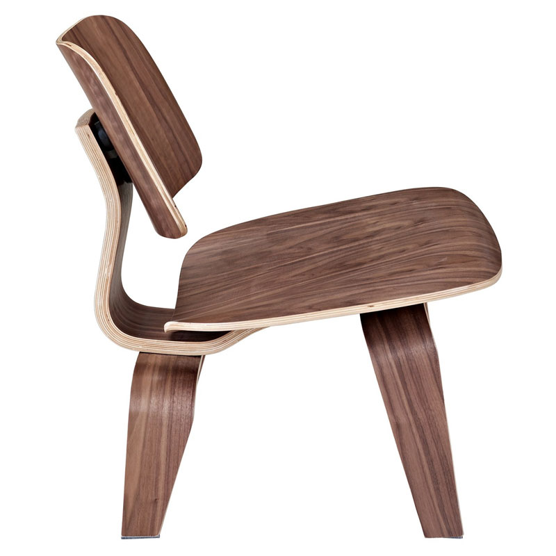 plywood lounge chair walnut side