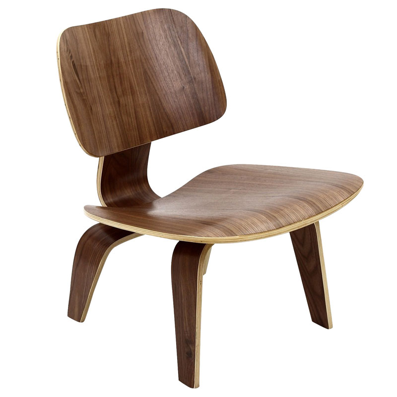 plywood lounge chair walnut