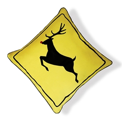 Rein Deer Crossing Pillow