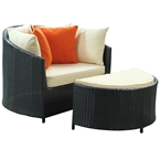 Roxanne Outdoor Chair & Ottoman