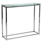 sara console table - clear glass