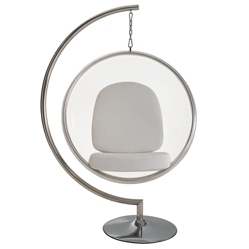 scoop haning chair white front