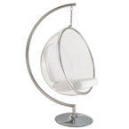 scoop hanging chair - white cushion