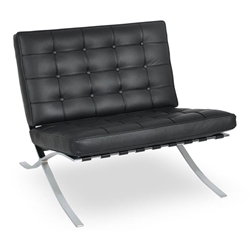 Lounge Chairs - Sevilla Chair in Black Leather
