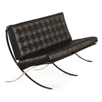 Sevilla Loveseat in Black Leather