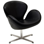 Shell Leather Lounge Chair