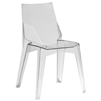 Sinclair Clear Modern Dining Chair