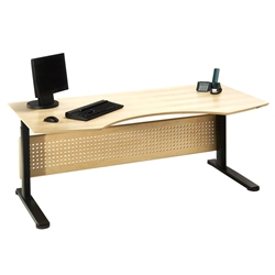 Sit-Stand 75 Inch Adjustable Desk in Maple