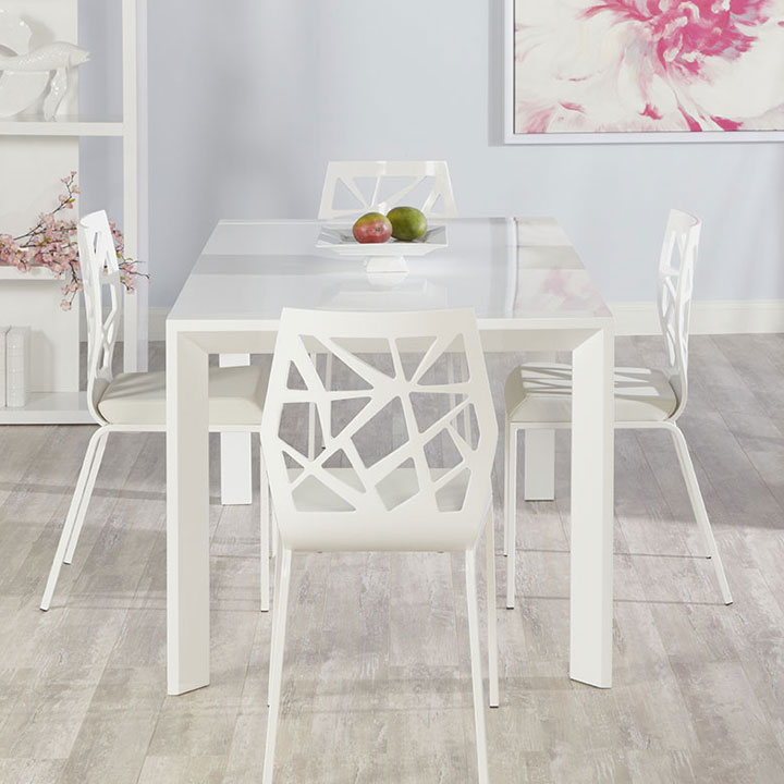 Adelle Dining Table + Solara Dining Chairs
