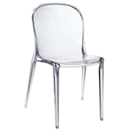 spirit modern clear dining chair