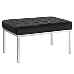 studio leather bench in black