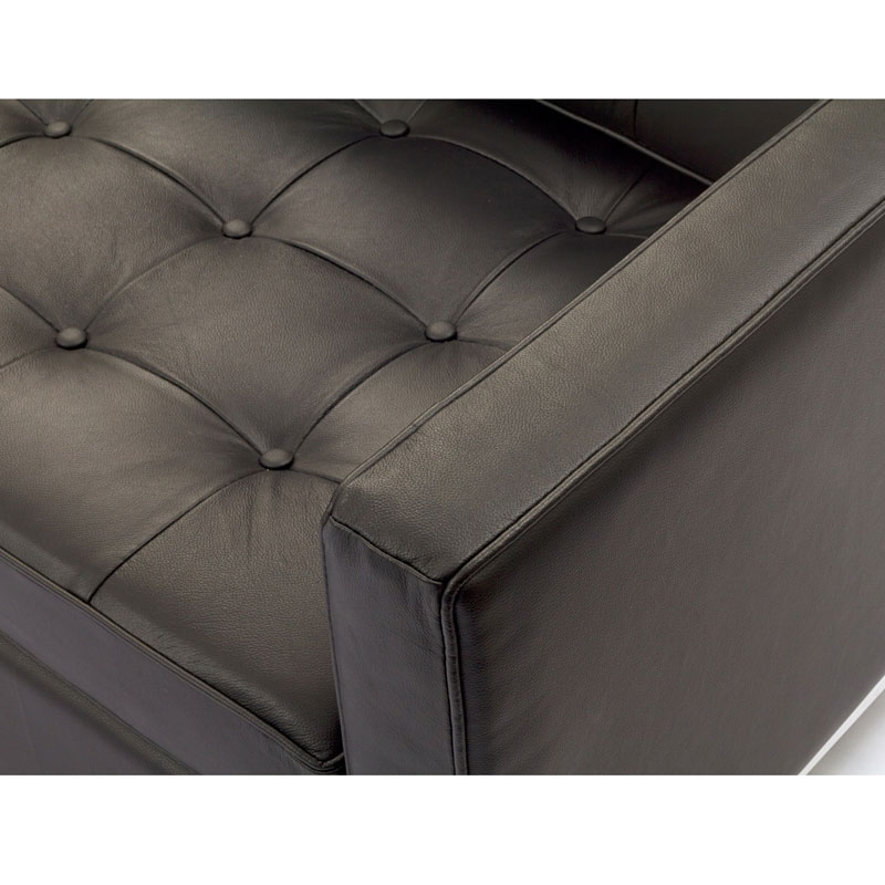 studio leather loveseat - brown leather