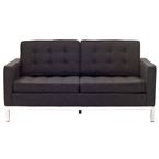 studio wool loveseat in dark gray