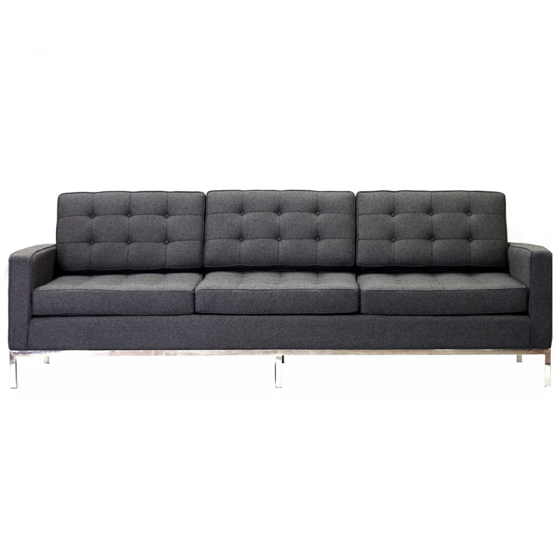 studio wool sofa in dark gray